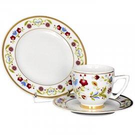 Garnitur śniadaniowy Ambasador wzór kaszubski 5812a Lubiana