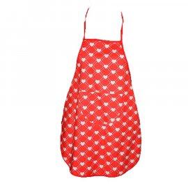 Fartuszek dziecięcy kuchenny serduszka czerwony