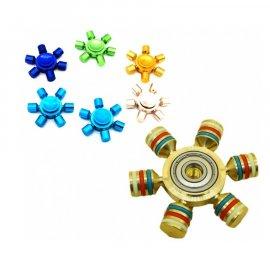Spiner 6 ramienny metalowy w etui