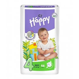 Pieluszki Maxi 4 Happy 8-18kg 46 szt