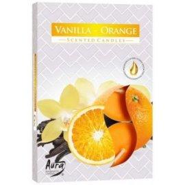 Podgrzewacz zapachowy Wanilia i Pomarańcza Tealight 6szt Bispol