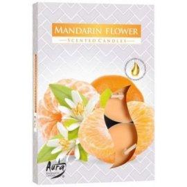 Podgrzewacz zapachowy Kwiat mandarynki Tealight 6szt Bispol