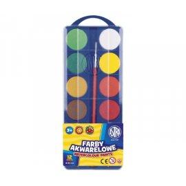 Farby akwarelowe 12 kolorów 30mm Astra