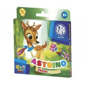 Kredki Astrino 12 kolorów + 2 gratis Astra