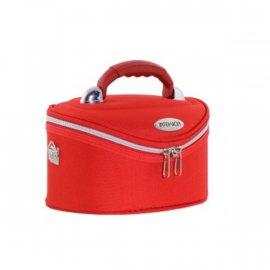 Kuferek kosmetyczny na kłódkę czerwony 28x18x18