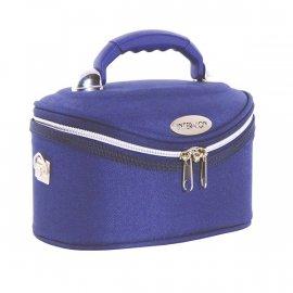 Kuferek kosmetyczny niebieski 34x22x19