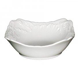 Salaterka kwadratowa biała 14 Rococo Ćmielów