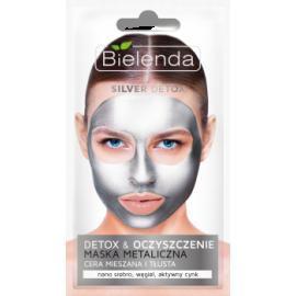SILVER DETOX Detoksykująca maska metaliczna oczyszcza Bielenda