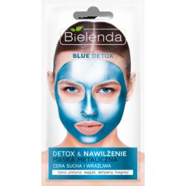 BLUE DETOX Detoksykująca maska metaliczna nawilża Bielenda