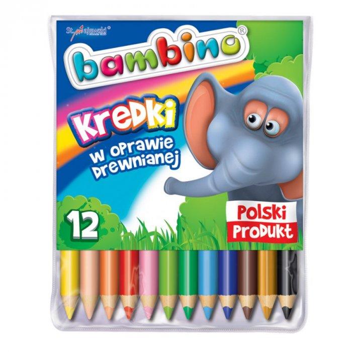 Kredki bambino z temperówką 12 kolorów