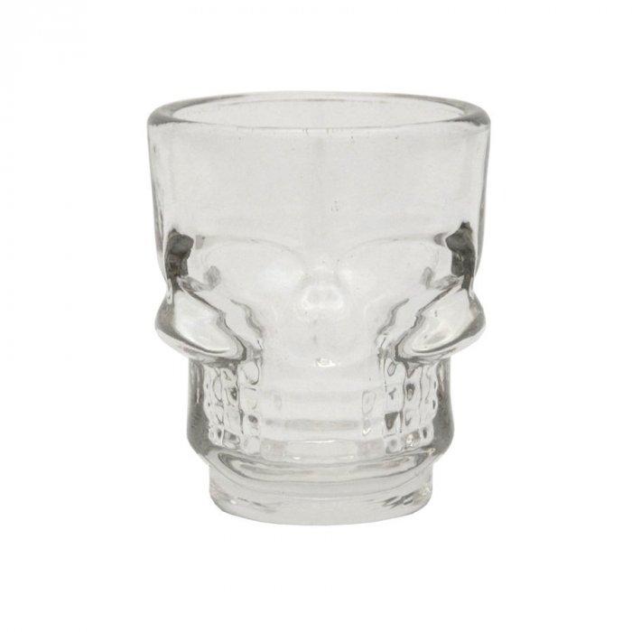 3 x kieliszki 45ml Czaszka szklane
