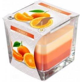 Świeca zapachowa Trójkolorowa w szkle Pomarańcza
