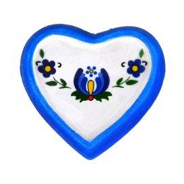 Magnes na lodówkę Serce Folk niebieskie