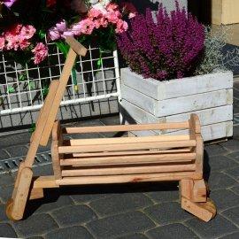 Drewniany pojazd biegowy i wózek 2w1 Ekozabawka