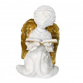 Figurka gipsowa Anioł z książką