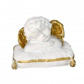 Figurka gipsowa Aniołek na poduszce