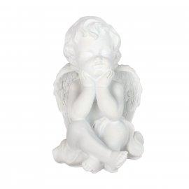 Figurka gipsowa Aniołek podpierający buzię