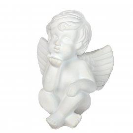 Figurka gipsowa Aniołek wysyła całusy