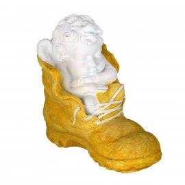Figurka gipsowa Aniołek w bucie