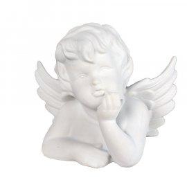 Figurka gipsowa Aniołek podpierający się