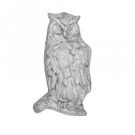 Sowa srebrna gipsowa figurka 12cm