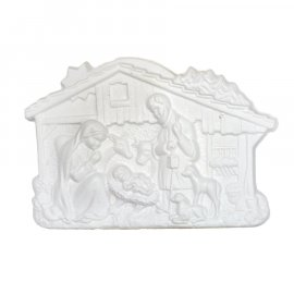 Szopka na Boże Narodzenie gipsowa 20cm