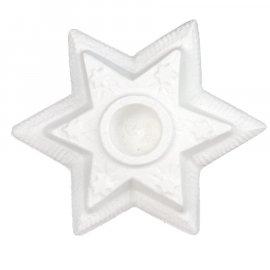 Gipsowy świecznik Gwiazda w gwiazdki