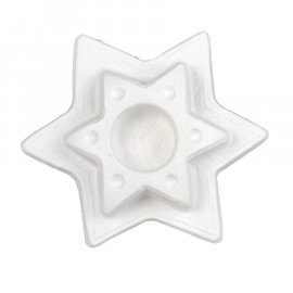 Gipsowy świecznik Gwiazda z kropkami