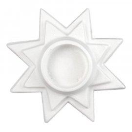Gipsowy świecznik Gwiazda 8 ramienna
