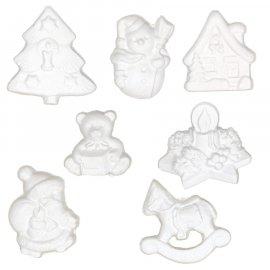 Mix 7 figurek świątecznych gipsowych na choinkę