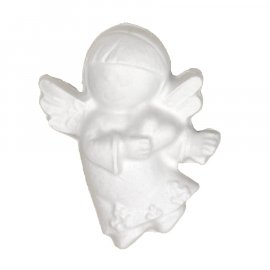 Gipsowa figurka aniołek z sercem
