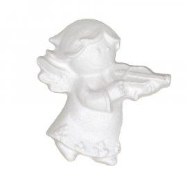 Gipsowa figurka aniołek ze skrzypcami