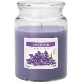 Świeca zapachowa Lawenda w szkle z wieczkiem Bispol