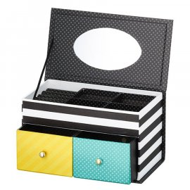Pudełko z lusterkiem Look Scandi 18 x 10 x 10 cm AMBITION
