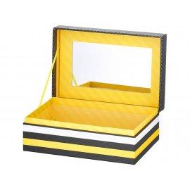 Pudełko z lusterkiem Look Scandi 18 x 12 x 7,5 cm AMBITION