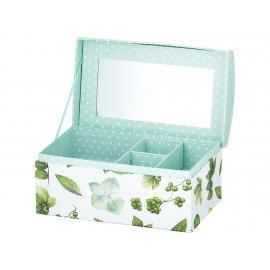 Pudełko z lusterkiem Look Liście 20 x 12 x 10,5 cm AMBITION