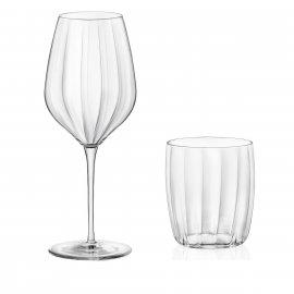 Kpl. 4 kieliszki i 4 szklanki Incontri Bormioli Rocco