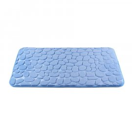 Dywanik łazienkowy Miss Lucy Mosaic kamienie 50x80 niebieski