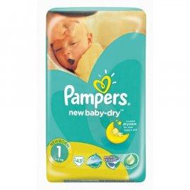Pieluszki Pampers 1 New Baby-Dry 43 sztuki w op.