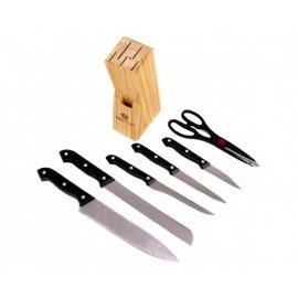 Zestaw noży w bloku 7 elementów KING HOFF