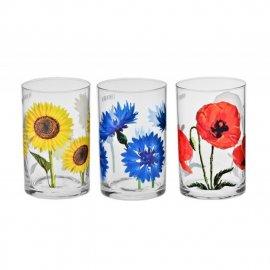 Zestaw 6 szklanek Kwiaty polskie 250 Krosno