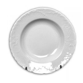 Talerz głęboki biały 22,5cm Rococo Ćmielów