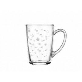 Szklany kubek Ala 300 gwiazdki srebrne Glasmark