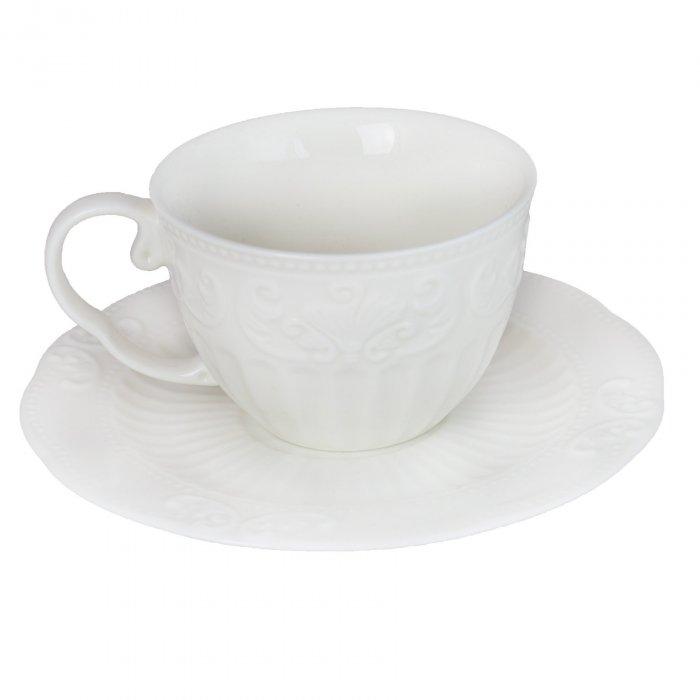 Serwis kawowy 6/12 filiżanka i spodek Ecru