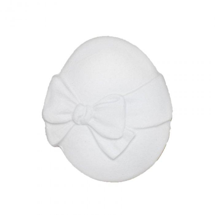 Gipsowa figurka Jajko z kokardką Wielkanoc