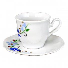 Filiżanka i spodek Espresso Jastra 0203 wzór kaszubski Lubiana 8/11