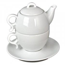 Komplet herbaciany 3 cz Bola 2 Biały Lubiana