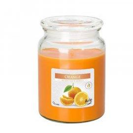 Świeca zapachowa Pomarańcza w szkle z wieczkiem Bispol