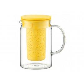 Dzbanek żaroodporny z zaparzaczem Nordic żółty 1000 ml AMBITION