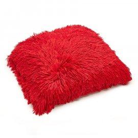 Poszewka Miss Lucy Futrzak 40 x 40 cm czerwona